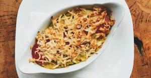 Картофен огретен със Заквасен деликатес от кашу Delishu
