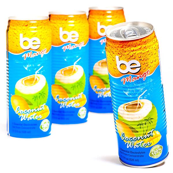 Кокосова вода с манго, be Pure, кен