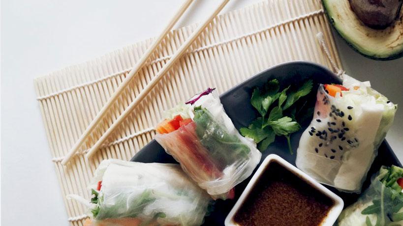 Пролетни рулца със зеленчуци и Delishu