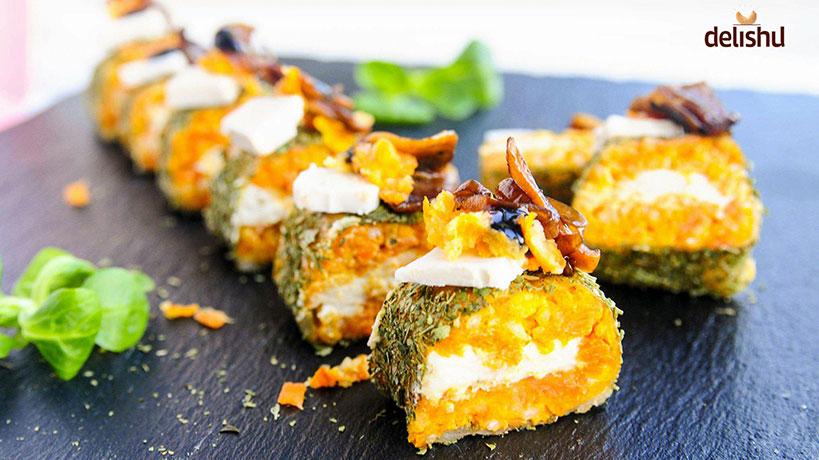 Тиквени веган суши ролца