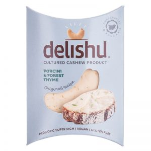 Delishu -Cultured cashew product, porcini & forest thyme, organic