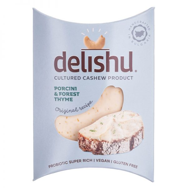 Delishu - Cultured cashew product, porcini & forest thyme, organic