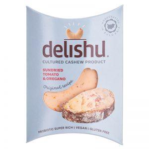 Delishu -Cultured cashew product, sundried tomato & oregano, organic